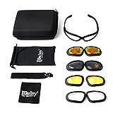 Motorrad Reiten Schutzbrillen schützende Motorrad Gläser mit 4 Objektiv-Installationssatz für im Freientätigkeit Sport Sonnenbrille