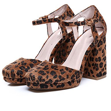 LvYuan Damen-Sandalen-Büro Kleid Lässig-Satin Samt-Blockabsatz-Andere-Schwarz Braun Mehrfarbig Mandelfarben Brown
