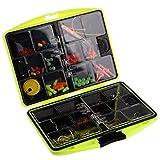 TOOGOO(R) 24 tipi di accessori Assorted pesca Swivels Jig ganci Leads Box accessorio