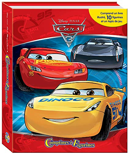 Phidal - 3 Cars 3 Coffret Book with 12 Figures + Playmat, 9782764342916