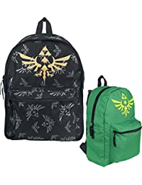 The Legend of Zelda Mochila Reversible de Zelda Mochila negro-verde