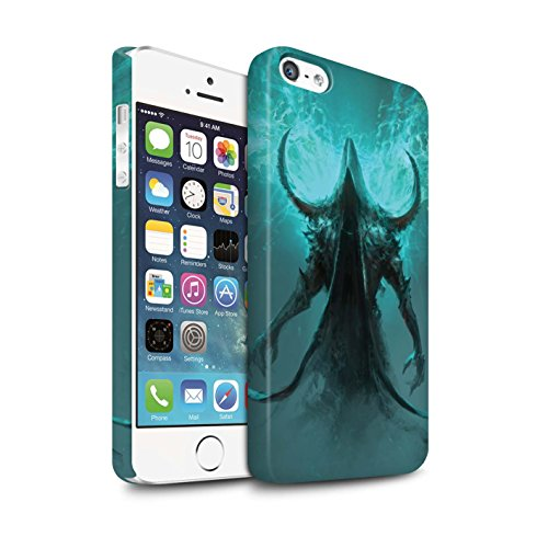 Offiziell Chris Cold Hülle / Matte Snap-On Case für Apple iPhone SE / Pack 10pcs Muster / Dunkle Kunst Dämon Kollektion Getarnte Teufel