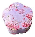 Koala Superstore Kreativer dekorativer Blumen-Muster-Zinn-Kasten für Hochzeits-Geschenk-Süßigkeits-Plätzchen, Lila
