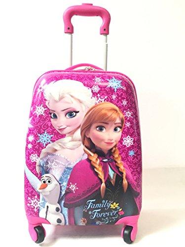 """Los niños kids character de viajes de vacaciones Maleta Equipaje Con Ruedas bolsas 18""""Frozen Elsa Anna"""