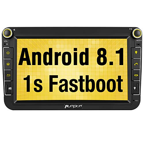 Pumpkin Android 8.1 Autoradio GPS con HD Pantalla IPS para VW Golf...
