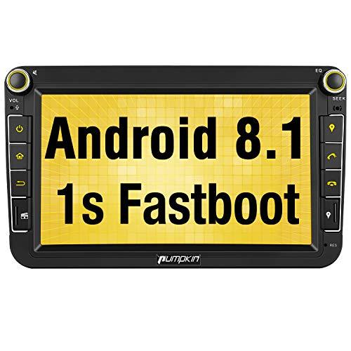 Pumpkin Android 8.1 Autoradio GPS con HD Pantalla IPS para VW Golf...