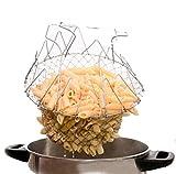 Faltbare Fry Basket Dampf frittiertopf Dehnungs Magie frittierkorb Sieb