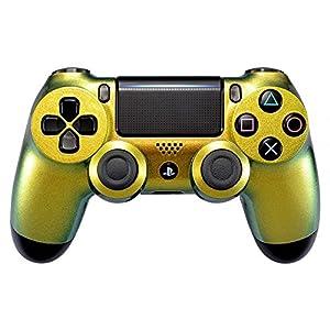 eXtremeRate PS4 ControllerCase Schutzhülle Obere Hülle Cover Oberschale Gehäuse Schale Skin Shell für Playstation 4 PS4 Slim PS4 Pro ControllerJDM-040 JDM-050 JDM-055(Grün Gold)