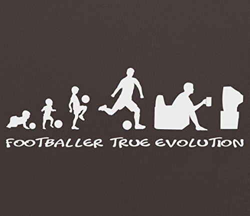 """Tee Shirt Fußballer """"True Evolution"""" Herren-T-Shirt Schwarz"""