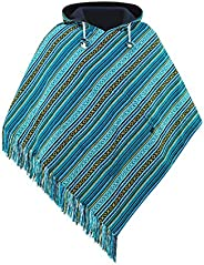 virblatt - Heren Poncho Mannen Poncho Jas Poncho for Men Top Quality Cotton and Reversible 2 in 1 with embroid