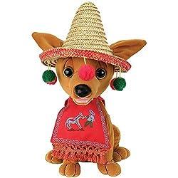 Animated Singing And Dancing Feliz Navidad Festive Christmas Chihuahua Plush