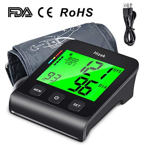 Oberarm Blutdruckmessgerät 4 Zoll Großbildschirm Hizek Digital Blutdruck Messgeräte mit...