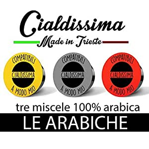 """cialdissima 100 CAPSULE CAFFÈ LAVAZZA A MODO MIO! """"LE ARABICHE"""" TRE GUSTI MISTI 100% ARABICA! 100% COMPATIBILI"""