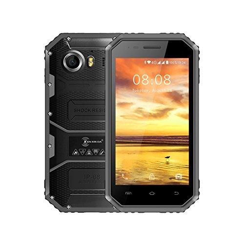 Smartphone Ohne Vertra, Kenxinda W6 4G Dual SIM Outdoor Handy( 4,5 Zoll Android 5.1 IP68 Wasserdicht/Staubdicht/stoßfest mobile phone, 1.5GHz Quad-Core, 1GB RAM 2600mAh Akku, Bluetooth 4.0) (Grau)