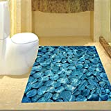 AdornHome-Sticker Blue Ocean adesivi per pavimenti in pietraadesivi toilette decorazione della casaapposta, 60x90cm