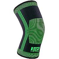 Lepfun 1 x Rodilleras Compresión, Rodilleras Deportivas para crossfit, motocross, voleibol, bicicleta, Baloncesto(Medium, W8000)