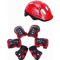 VORCOOL Equipo de protección para niños, Casco de bicicleta para niños Seguridad Deportes Conjunto de
