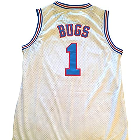 Bugs Bunny Space Jam Jersey - #1 Tune Squad - White (Large) by Space Jam