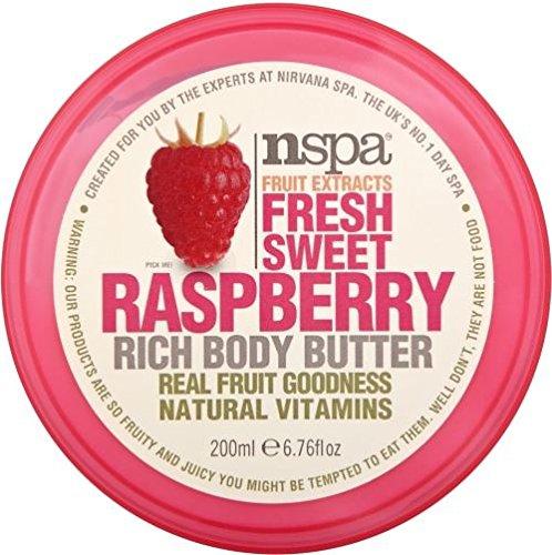 N-Spa Fruchtextrakte Frische süße Raspberry Reich Body Butter (200 ml) - Packung mit 2