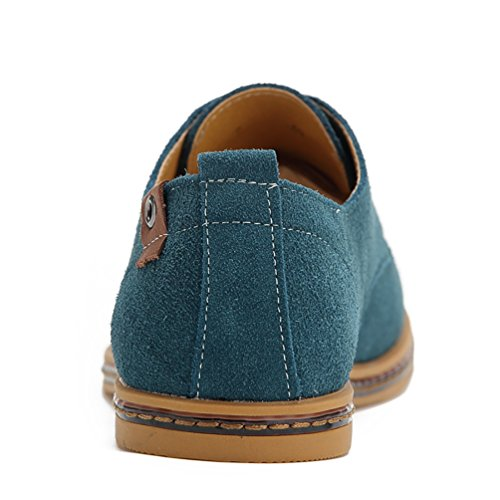 YiJee Grande Taille Loisir Chaussure Lacets Chaussures de ville Homme Vert