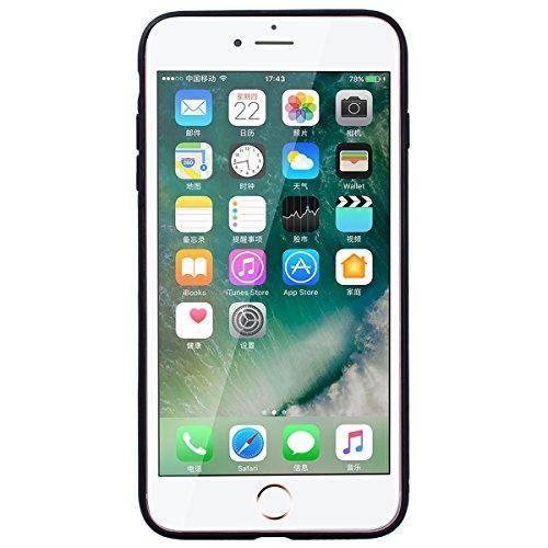Yokata iPhone 7 Plus Hülle Hart PC Handyhülle Soft Flexible Silikon TPU Bumper Cover Ultra Slim Stoßfest PC Plastik Harte Schutzhülle mit Cherry Blume Muster Tasche Rückschale Hardcase für iPhone 7 Pl Lila