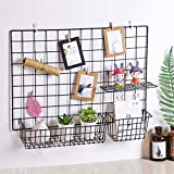 PIKIFY DIY Steel Grid Photo Frame for Wall Clip Holder Photo Frame,Multi Functional Creative Mesh Wall Grid-{Package: 1xFrame