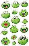 AVERY Zweckform 56095 Deko Sticker Emoticon Frosch 32 Aufkleber