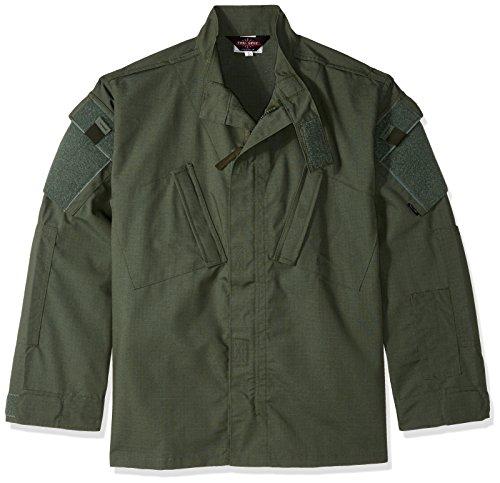TRU-SPEC 1284044 Tactical Response Uniform Shirt, Polyester Baumwolle Rip-Stop, Medium kurz, Olive Drab -