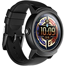 Reloj Ticwatch E Shadow Super Ligero Smart Watch,1.4 pulgadas, Pantalla OLED, Android Wear 2.0,Compatible con iOS y Android, Tu Compañero Smart Sports