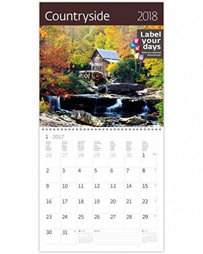 CA12-18 Kalpa 2018 Wall Calendar Countryside 2018 Calendars Collection 30 x 30 cm