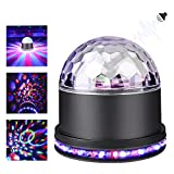 YaFex Stage Light, Crystal Magic Ball Disco DJ Strobe Lights for KTV Party House Camping Field (Black)