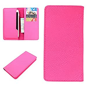 DooDa PU Leather Case Cover For Lava Iris Alfa L (Pink)