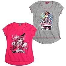 Pack monster high t-shirt à manches courtes disponible dans 2 versions et 4 tailles lAWS75637