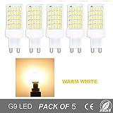 Regulable 10W G9 LED Bombilla de Luz Fría 6000K Luz de Maíz Con 800ml Lumenes 360 Grados, Reemplazo de 80W Lámpara Halógena