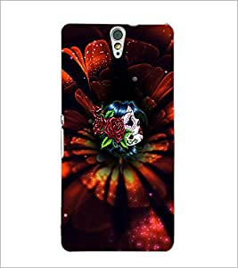 PrintDhaba Flowers D-4659 Back Case Cover for SONY XPERIA C5 ULTRA (Multi-Coloured)