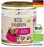 Edelmond® Bio für dunkle Trinkschokolade / Heißer Kakao - Kein Pulver! ✓ Ohne Zucker und Ohne Süßstoffe ✓ 100 % Edelkakao ✓ Vegan & Fairtrade ✓ Konzentrat für Trink- Zartbitter-Schokolade / Herrenschokolade - 250g