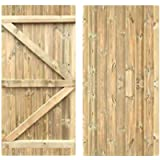 Tongue & Groove Flat Top Semi-Braced Strong Garden Gate Driveway Fence Wood Timber Available in 4 Sizes (180cm Tall x…