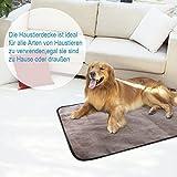 UEETEK Decke für Haustier,Wasserdichte und Plüsch Hundedecke Matte mit Tragbar Tragetasche für Hund Welpen Katze Innen Draussen Anwendungen,100 * 70 CM(L * W) Test