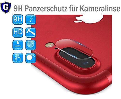OnyxTM ✔Premium Kamera Objektiv HD+ Panzerfolie Schutzfolie für Apple iPhone 7 Plus 7+ / iPhone 8 Plus 8+ Kameralinse Schutz - 0,2mm Hartglas - 9H Ultra Hart - inkl. 3-in-1 Einbauset