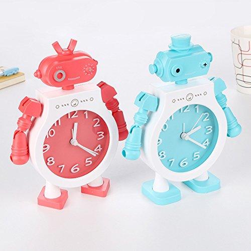Huayer Süß für Kinder Wecker Kreative Kinder Kinder Studenten Roboter Wecker (zufällig)