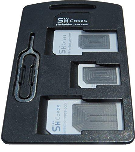 SIMCases Titular caso Pequeño Negro tarjeta SIM adaptadores