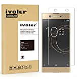 Sony Xperia XA1 Ultra Protection écran, iVoler Film Protection d'écran en Verre Trempé Glass Screen Protector Vitre Tempered pour Sony Xperia XA1 Ultra - Dureté 9H, Ultra-mince 0.20 mm, 2.5D Bords Arrondis- Anti-rayure, Anti-traces de doigts,Haute-réponse, Haute transparence- Garantie de Remplacement de 18 Mois