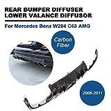 Kohlefaser Hintere Stoßstange Diffusor für W204 C63 AMG 2008-11 TGFOF Bumper Lip