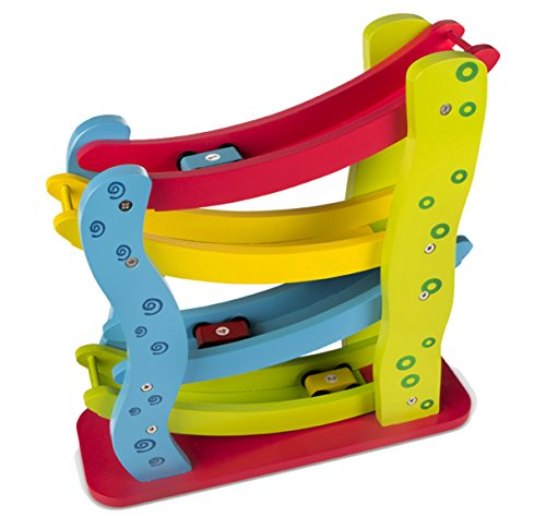 ColorBaby - Roller de Madera + 4 Coches (42136)