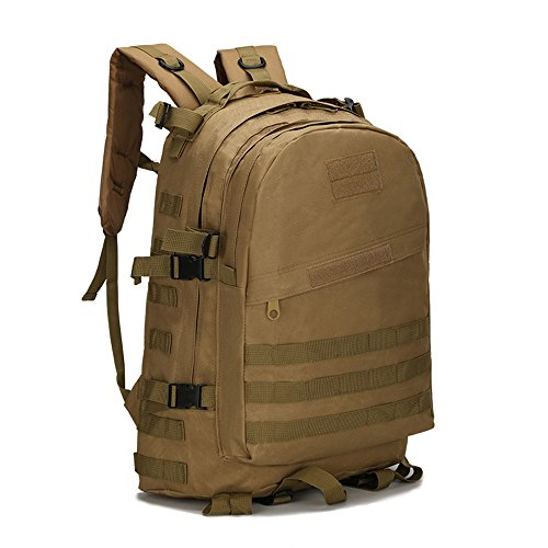 dohot Wasserdicht Military Army Patrol MOLLE Assault Pack Tactical Rucksack Tasche für Wandern Camping, 40L hautfarben