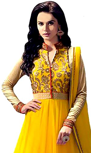 3a88d22ab5 80% OFF on Anarkali Suit for Women Clothing Designer Party Wear Today  Offers Low Price Sale Top Yellow Color Banglori Silk Fabric Free Size  Salwar Kameez ...