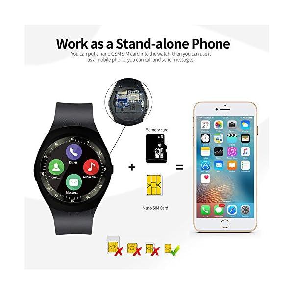 Fitness Tracker,Gearlifee IP68 Waterproof Reloj pulsera con monitor de ritmo cardíaco, presión arterial, oxígeno en la sangre, monitor de sueño, SMS, podómetro para iPhone Android(Banda de acero) 3