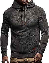 2f0a8f194a57 LEIF NELSON Herren Pullover   Hoodie mit Kapuze   Moderner Sweatshirt- Pullover   Langarm Sweatshirt