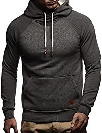 eeaed3f7c7fc LEIF NELSON Herren Pullover   Hoodie mit Kapuze   Moderner Sweatshirt- Pullover   Langarm Sweatshirt