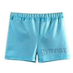 ZNYUNE Sporthose Kinder Gymnastikhose Mädchen Turnhose Mädchen Fitness Tanzhose Shorts Pants Kurz Kurzhose